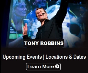 Tony Robbins upcoming events dates and locations